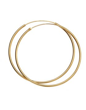 Yellow Gold Plated 50mm Plain Hoops (H243)