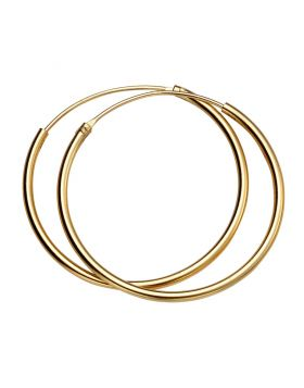 Yellow Gold Plated 30mm Plain Hoops (H246)