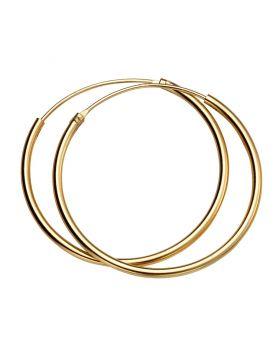 H246 YELL GOLD PLT 30mm x 1.5mm HOOP