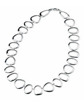 Cut Out Pebble Shape Link Necklace