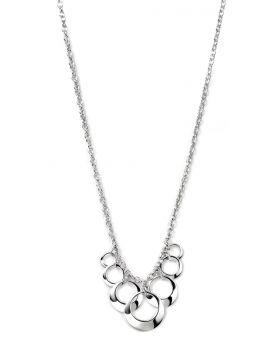 Open Multi Disc Cluster Drop Necklace