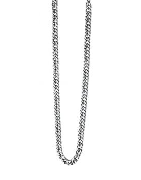 N3224 S/STEEL Curb 56cm NECKLACE