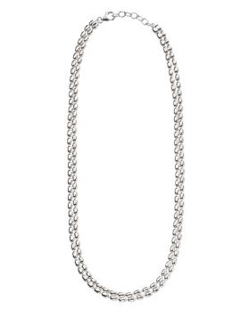Oval Bead Double Necklace