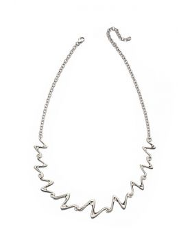 Silver Water Wave Necklace