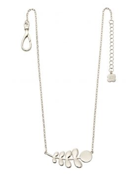 Silver Plated Leaf Necklace (42+5cm)