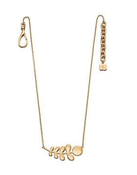 Yellow Gold Plated Leaf Necklace