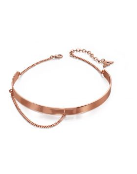 Rose Gold and Chain Choker