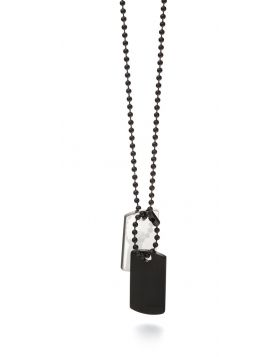 Fred Bennett Black and Steel Double Dog Tag