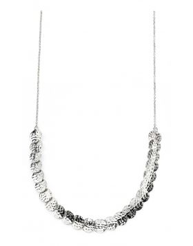 Hammered disc articulated necklace
