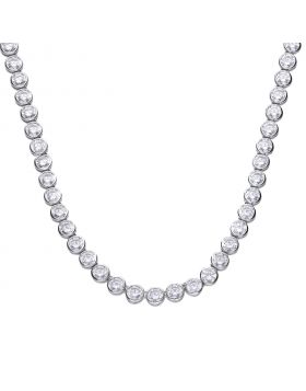 21 ct tennis necklace bezel set with Diamonfire cubic zirconia
