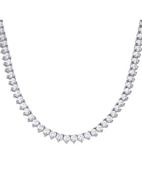 Tennis necklace claw set with Diamonfire cubic zirconia