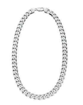 Heavyweight diamond cut necklace 51cm