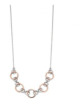 Silver and Rose Gold Multi Link Necklace