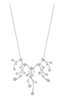 Cubic Zirconia and Pearl Drop Necklace