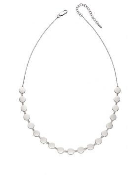 Silver Flat Disc Necklace