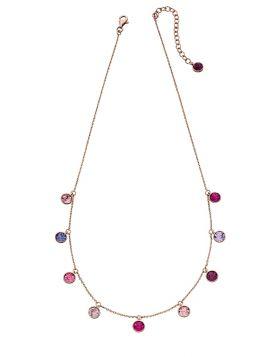 Multi Drop Tonal Pinks Necklace N4312