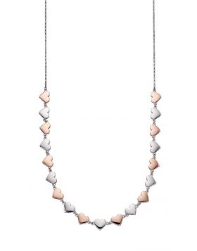 Mixed Metal Heart Collar Necklace (N4346)