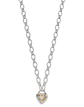 Heart Lock Chain Necklace (N4373)