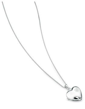 P2548 DIA Large Heart Locket PENDANT