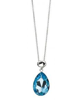 Large Teardrop Aquamarine Crystal Pendant P3215T