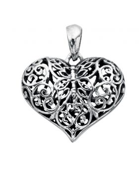 P3313 Filigree Heart PENDANT