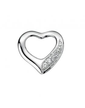 P3505C CLR CZ Cut Out Heart Pave PND