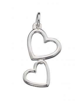 P4266 Double Heart Cutout PENDANT