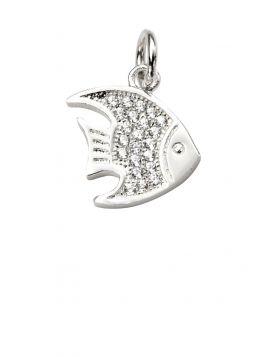 Cubic Zirconia Angel Fish Pendant