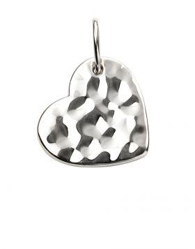 Hammered Heart Pendant