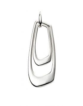 Open Abstract Silver Pendant