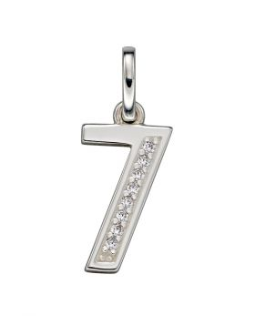 Art Deco Number '7' Pendant (P4811C)