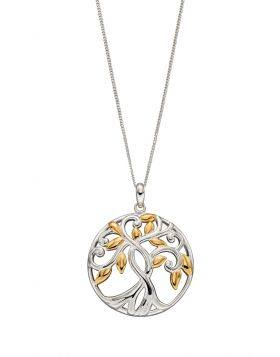 Tree of Life Gold Plate Pendant (P4832)