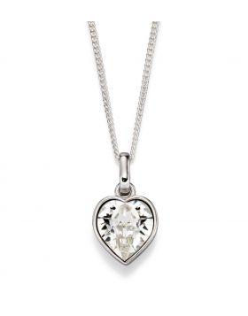 Clear Crystal Heart Pendant (P4849)