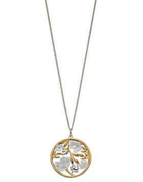 Cherry Blossom Pendant With Yellow Gold Plating (P4857)