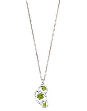 Round Green Peridot Pendant (P4863G)