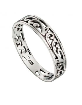 R117    Ring Band Filigree
