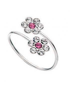 R146P PINK Double Flower TOE RING