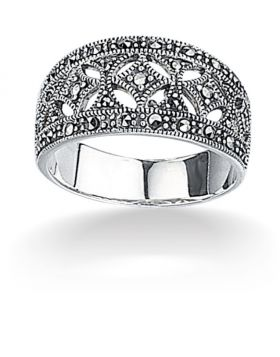 R2012 MARCASITE Wide RING