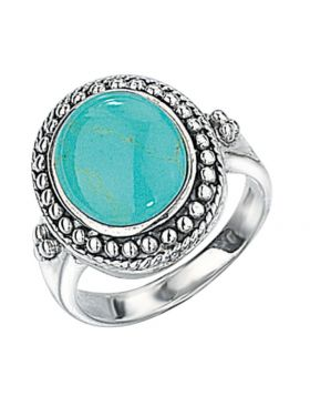 R2017T SYN TURQUOISE Oval RING