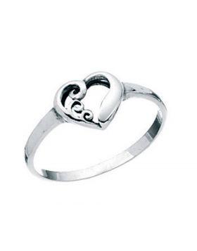 R2254 Swirl Heart RING