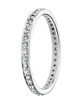 Clear CZ Pave Eternity Ring (R2784C)