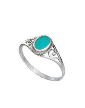 R2992T IM TURQUOISE Oval RING