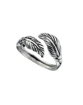 R3156 Double Leaf Oxidised TOE RING