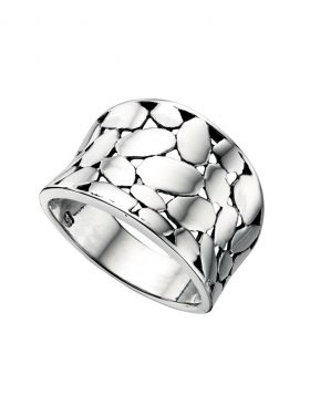 R3227 Wide Textured RING
