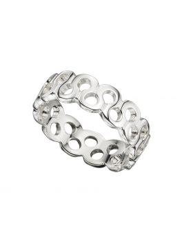 R3366 Cut Out Squiggle Band RING
