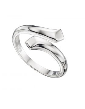 R3370 Wrap-over Bevelled Edge RING