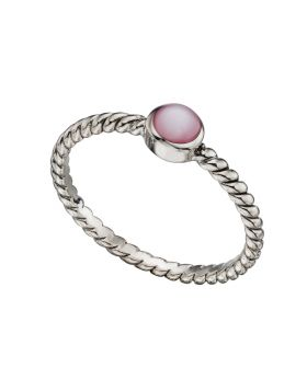 R3377P PINK MOP Twisted band RING
