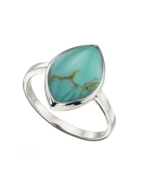 R3379T IMITN TURQUOISE Marquise RING
