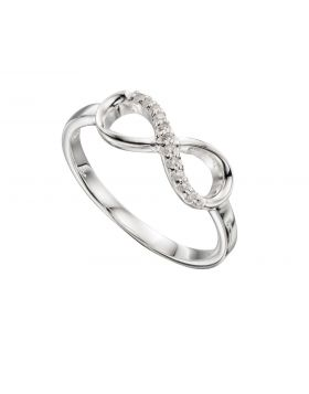 R3383C CLEAR CZ Pave Infinity RING
