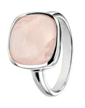 Silver and Rose Quartz Ring